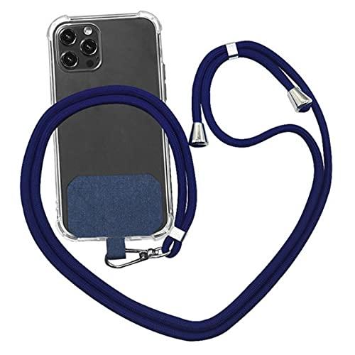 Cordini per telefono in nylon a tracolla universale per telefono cellulare, 9 colori, corda morbida per appendere il cavo degli Stati Uniti, blu scuro