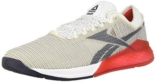 Reebok Men's Nano 9 Cross Trainer, White/red/Navy, 8.5 M US