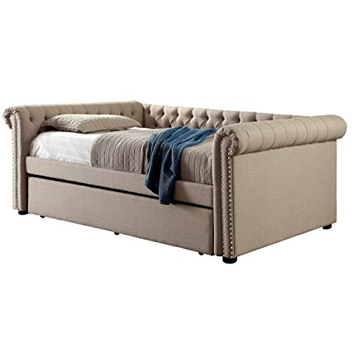 HOMES: Inside + Out IDF-1027BG Hunten Daybed, Twin, Beige