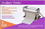 Sculpey Tools Clay Conditioning Pasta Machine, polymer oven-bake clay tool, 9 thickness settings, includes clamp and hand crank, great for all skill levels and craft projects