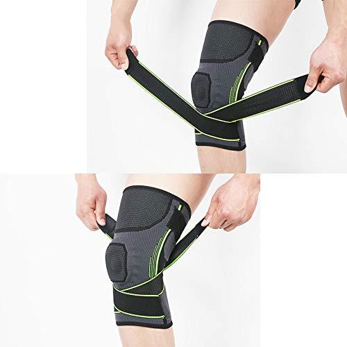 Soporte de barra de resorte de silicona rodilleras deportivas antideslizantes compresión fitness protección contra presión