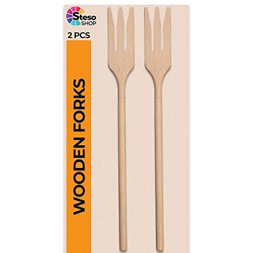 Steso cucharas de madera,paquete de 2, de 20 cm ovaladas para servir arroz, cuchara mezcladora de cocina, cucharas de madera para manualidades y fiestas de manualidades