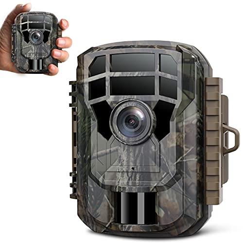 Campark 2021 - Videocamera da caccia con Bluetooth, 16 MP, visione notturna a infrarossi, impermeabile IP66, per sorveglianza di animali selvatici, con grandangolo di 120°