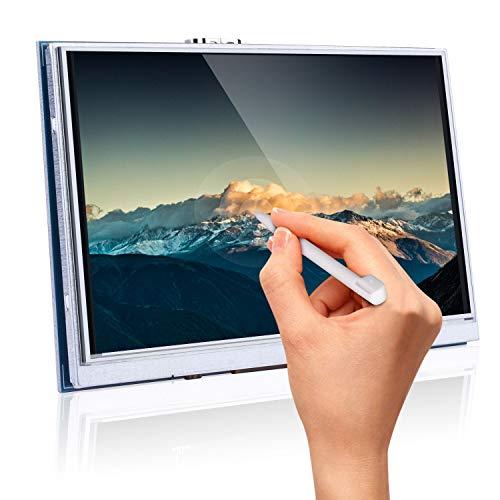 Longruner para Raspberry Pi 4 Pantalla táctil de Touch Screen HDMI LCD TFT de 800x480 5 Pulgadas para Raspberry Pi 3 2 Modelo B RPi 1 B B + A A + con tarjeta SD en el panel táctil y lápiz táctil SC5A