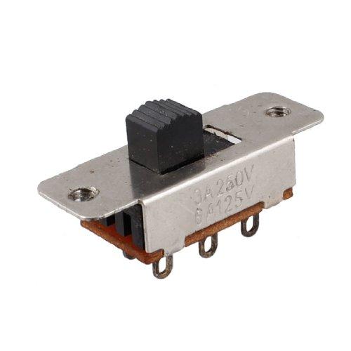 sourcing map On Off Posición 2 SPDT PCB Panel Interruptor Deslizante 6A/125 V 3A/250V AC