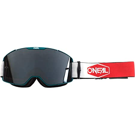 O Neal Fahrrad Motocross Brille Mx Mtb Dh Fr Downhill Freeride Verstellbares Band Optimaler Komfort Perfekte Belüftung B 20 Goggle Unisex Schwarz Weiß Rot Verspiegelt One Size Bekleidung