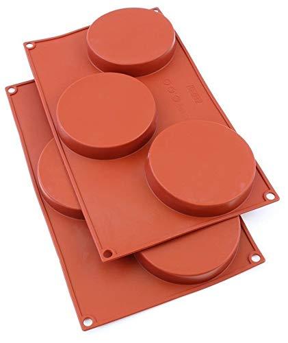 Oggibox 3-Cavity Silicone Disc Mold for Cake, Pie, Custard, Tart and Resin...