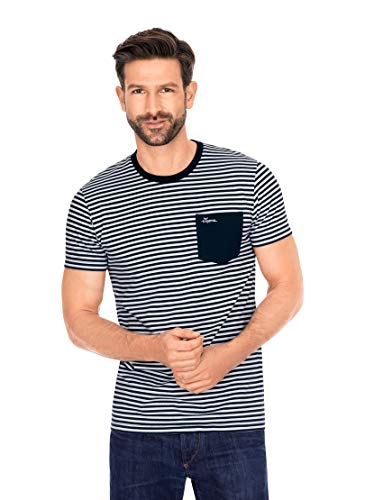Trigema Herren 637221220 T-Shirt, Navy, M