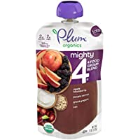 6-Pack Plum Organics Mighty 4 Organic Toddler Food Pouches