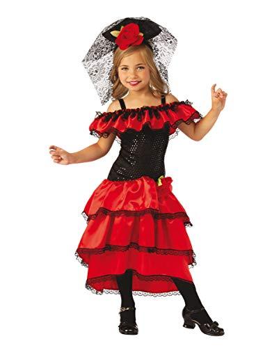 Horror-Shop Spanische Flamenco Tänzerin Kinder Kostüm für Karneval und Halloween L