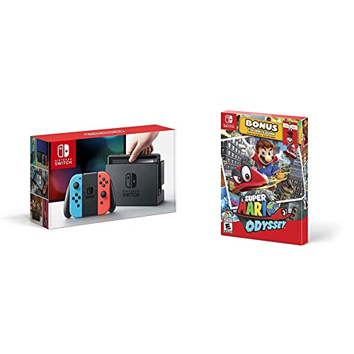 Nintendo Switch Neon + Super Mario Odyssey: Starter Pack - Super Mario...