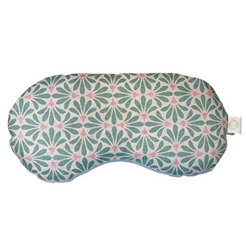 mojoo Yoga Augenkissen mit Bio Lavendel-, und Bio Leinsamen - Yoga Kissen - Schlafmaske - Entspannung Kissen - Yogakissen - Aroma Therapie - Lavendel Duft führt zu Gute Laune (Olive Daisy)