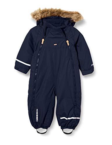 MINYMO Unisex-Child Snow Suit Tusser solid Snowsuit, Navy, 104