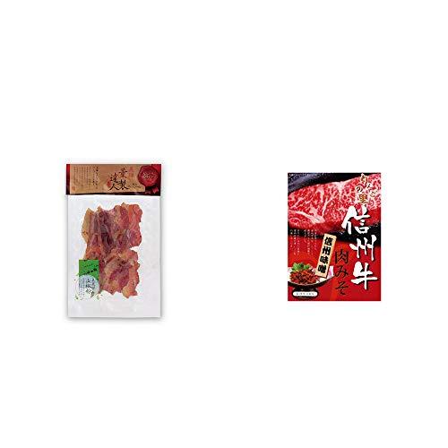 [2点セット] 薫製達人 豚バラベーコン燻製(60g)[飛騨山椒付き]・信州牛 肉みそ(200g)
