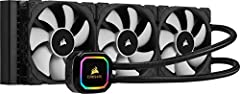 Three 120mm Corsair ML series magnetic Levitation PWM fans deliver improved airflow for extreme CPU cooling performance 16 individually addressable RGB LEDs light up the pump head to produce stunning customizable lighting effects to match your build ...