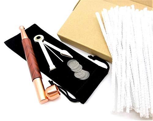 【ぴぴっと】 パイプ 銅コパー(copper)木目調 クリーニングツールセット キセル 金属製 メタルパイプ 分解可能 刻み タバコ 煙管用 お手入れ ヤニ取り モールクリーナー