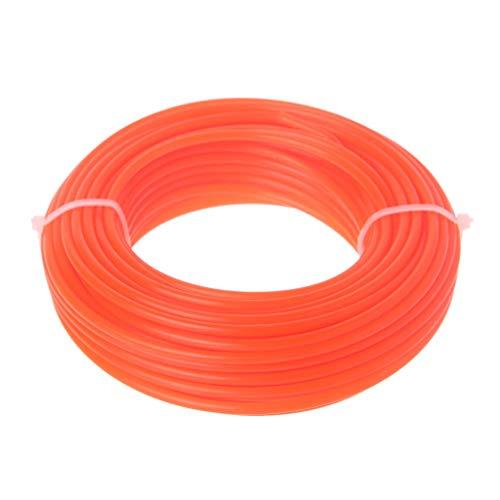 cdhgsh 2/2.4 / 3mm x 15M Nailon Trimmer Line Cepillo Cortador Strimmer Cuerda Cortadora de césped Cable Trimmer Line Orange