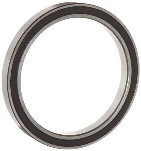 WJB 6808-2RS Deep Groove Ball Bearing, Double Sealed, Metric, 40mm ID, 52mm OD, 7mm Width, 1140lbf Dynamic Load Capacity, 985lbf Static Load Capacity
