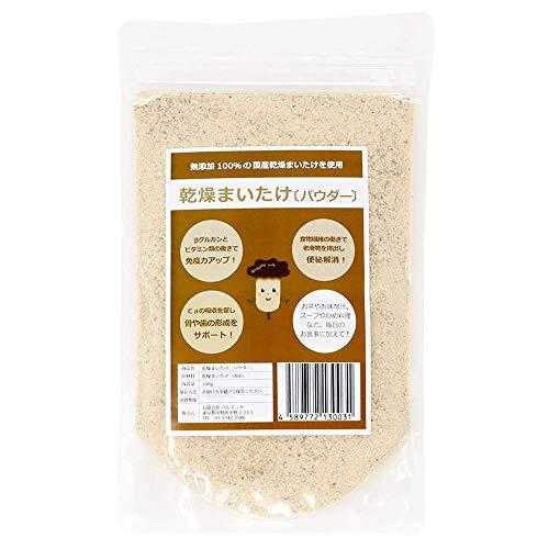 新潟県産 [無添加] 100%まいたけ粉末 100g 乾燥 舞茸茶 パウダー スープ(便利なチャック・シリカゲル付き)