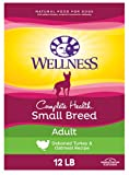 Wellness Complete Health Small Breed Dry Dog Food with Grains, Turkey & Oatmeal, 12 Pound Bag