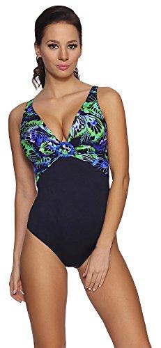 Feba Modellante Corpo Costume da Bagno Intero per Donna Angela (Modello-09DK, EU 38 = IT 44)