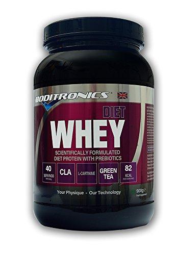 Boditronics Diet Whey Protein Shake Powder, 900g Banana Split