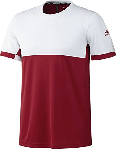 adidas - Tennis-T-Shirts für Herren in Power Red/White, Größe S