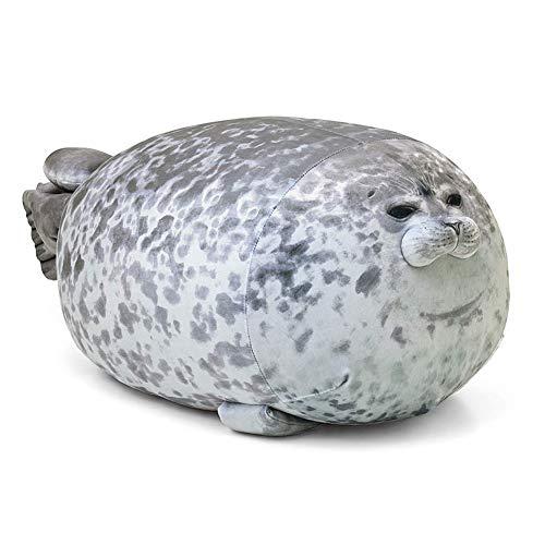 Helmay 3D Novelty Cushion Soft Seal Plush Stuffed Plush Housewarming Party Hold Pillow, 11