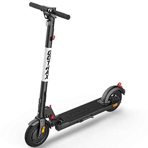 GOTRAX XR Elite Foldable Electric Scooter, Big Battery 36V/7.8AH, Powerful 300W Motor & 15.5 MPH, 6.6' W/28.3' L Wide Deck and UL Certified E-Scooter for Commuter (Black)