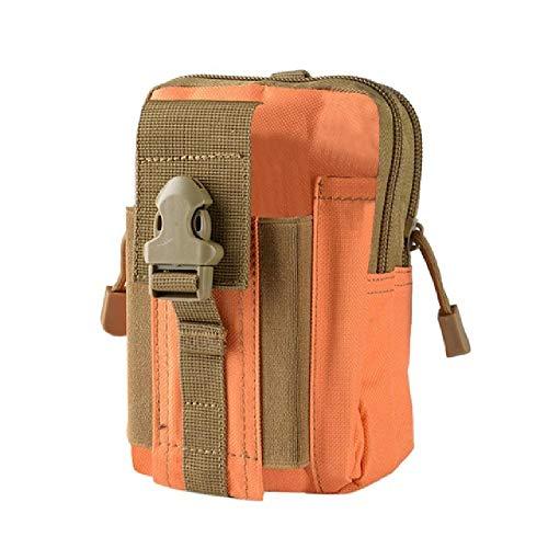 Portaherramientas Multiusos con Funda de teléfono Celular para Senderismo Deportivo Cinturón de Camping Color sólido Bolsas de Alta Capacidad Fanny