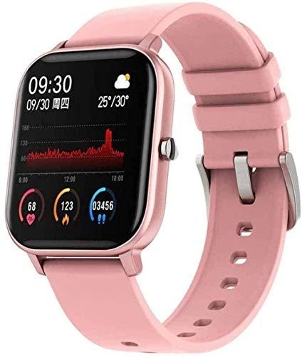 Smart Watch 1 4 pulgadas pantalla táctil completa Fitness Tracker para hombres y mujeres Recordatorio inteligente Monitoreo Bluetooth reloj de lujo negro rosa