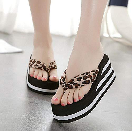 Fitness sandalen,Damesslippers met hoge hakken, slipvrije sandalen en pantoffels-bruin_36