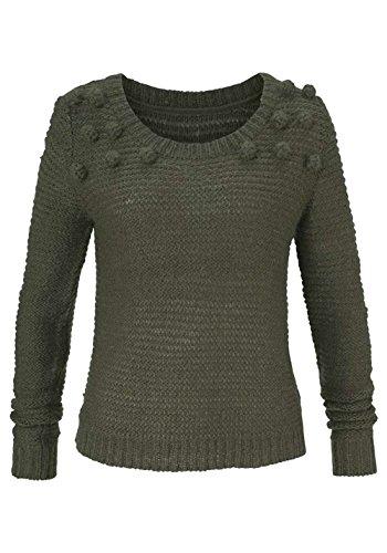 Aniston Damen-Pullover Pullover Oliv Größe 40