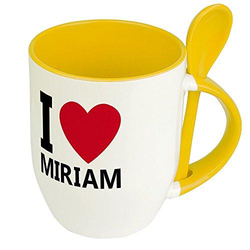 Namenstasse Miriam - Löffel-Tasse mit Namens-Motiv