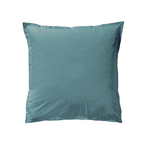 Essix Taie d'Oreiller, Coton, Bleu Paon, 63x63 cm