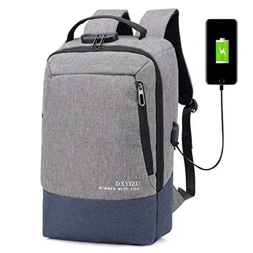 PJY grote capaciteit Laptop Bag Man Rugzakken Vrouwen Rugzakken School Tassen USB Interface Anti-diefstal Rugzak
