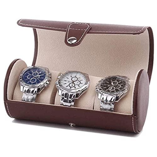 Joyero - Caja de Almacenamiento de Reloj portátil de Viaje Caja de colección de Bolsa de Reloj cilíndrica Classic Harmonious Home