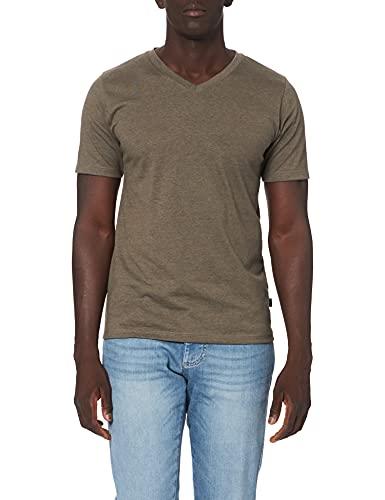 Trigema Herren 637203 T-Shirt, Beige (Taupe-Melange 628), XX-Large
