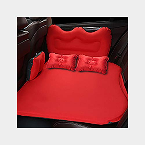 NWJHB Green suede car mattress car inflatable bed car travel car inflatable bed-red