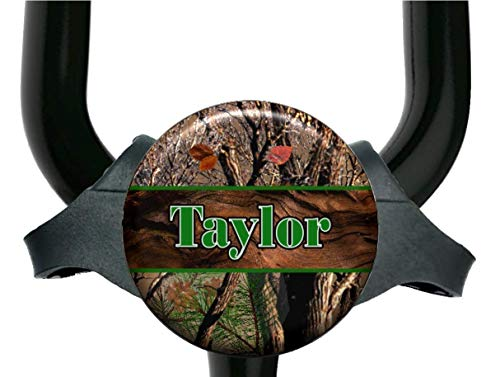 Green or Pink Forest Camo Stethoscope Tag - Adjustable Yoke or Tube Steth Id Personalized with Name Monogram, Occupation Title - Hospital Nurse Gift