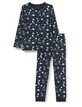 NAME IT Nkmnightset Space Noos Juego de Pijama, Azul (Dark Sapphire), 146-152 (Pack de 2) para Niños