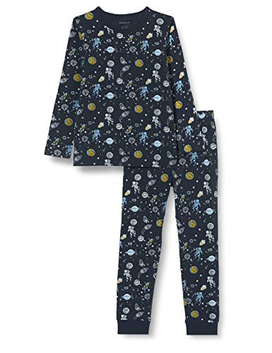 NAME IT Jungen NKMNIGHTSET Dark Sapphire Space NOOS Pyjamaset, 134-140 (2er Pack)