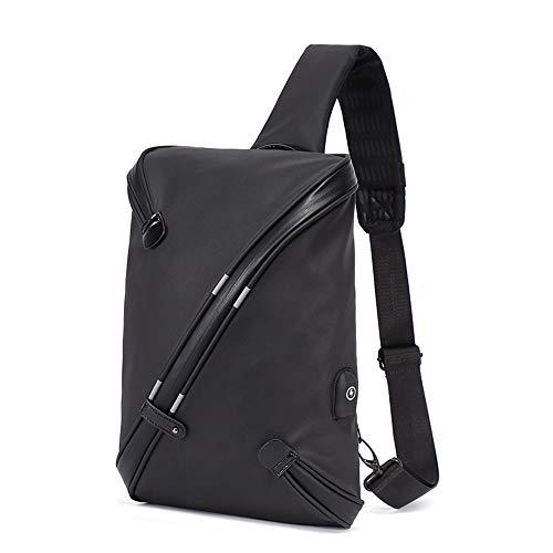 RongDuosi Heren Borstzak Eenvoudige Trend Schoudertas Casual Canvas Messenger Bag Safety Sporttas Outdoor rugzak Zwembed