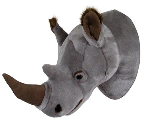 Plüschtrophäe Nashornkopf - lebensecht - XL - Plüschtier Trophäe Nashorn Plüsch