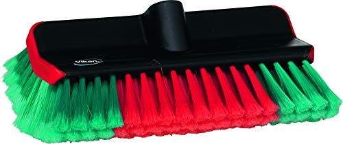 Vikan High/Low Waschbürste für Auto, PKW, LKW und Bus, Autowaschbürste 28 cm mit Wasserdurchlauf max. 50°C.