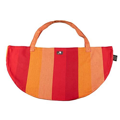 Hoppediz Wiegetuch für Hänge-Babywaage | Wiegetasche aus Tragetuchstoff | Wiegesack | Geburtsgeschenk | Design Delhi orange