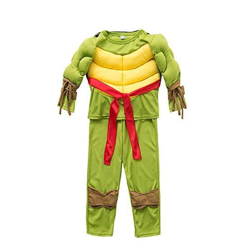 Lily&her friends - Costume da supereroe per bambini, per cosplay, Halloween, 2-8 anni Tartarughe Ninja altezza 95/110 cm