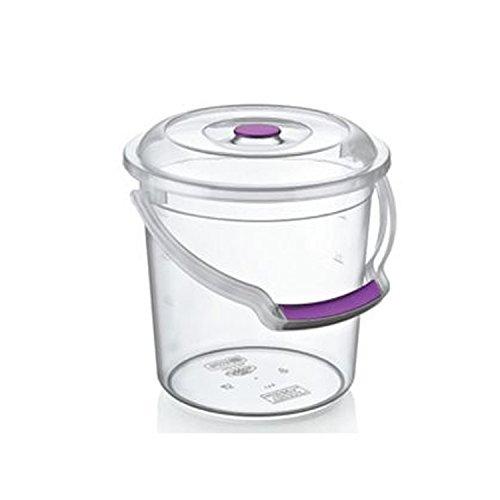 AGROHIT Eimer mit Deckel und Tragebügel 5/10/15 Liter transparent (5L)