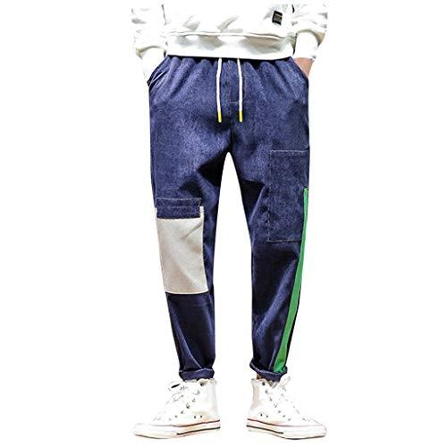 Herren Bunte Hip Hop Hosen Patchwork Hosen Freizeithosen Sport Jogginghose Vintage Streetwear Hosen für Männer Sport Hose Cargo Chino Hose Sweatpants