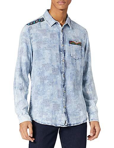 Desigual CAM_ALICIO Camiseta, Azul, M para Hombre